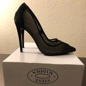Black pump heels